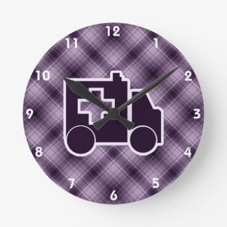 Purple Ambulance Round Clock