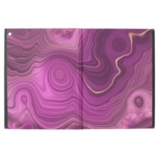 """Purple Amethyst And Gold Abstract Agate iPad Pro 12.9"""" Case"""