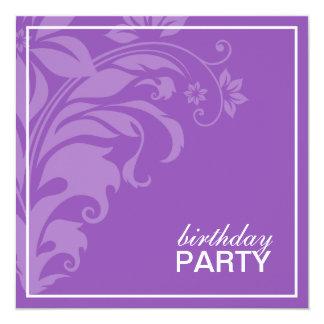 Purple Amethyst Birthday Party Invitations