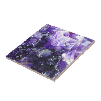 Purple amethyst ceramic tile