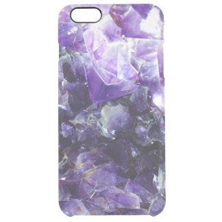 Purple amethyst clear iPhone 6 plus case