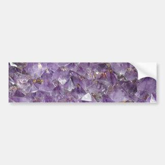 Purple Amethyst Crystal Stone Print Bumper Sticker