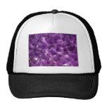 Purple Amethyst Gemstone Rock February Birthstone Mesh Hats