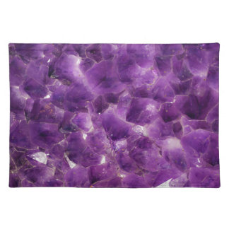 Purple Amethyst Gemstone Rock February Birthstone Place Mats