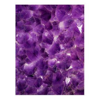 Purple Amethyst Gemstone Rock February Birthstone Postcard
