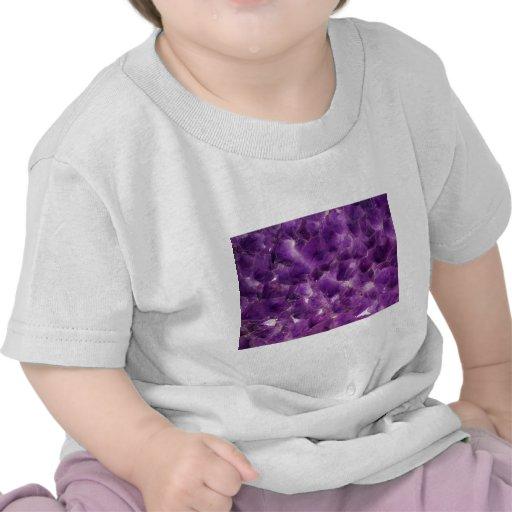 Purple Amethyst Gemstone Rock February Birthstone Shirts