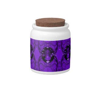Purple Amethyst Jewel Candy Jar