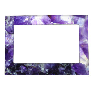 Purple amethyst magnetic picture frame
