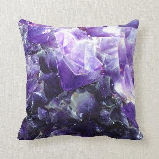 Purple amethyst throw pillow