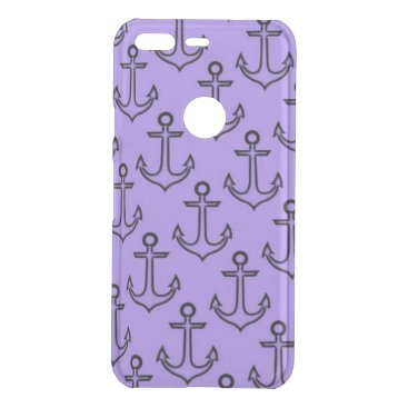 Beach Themed Purple Anchor Google Pixel Clearly™ Case