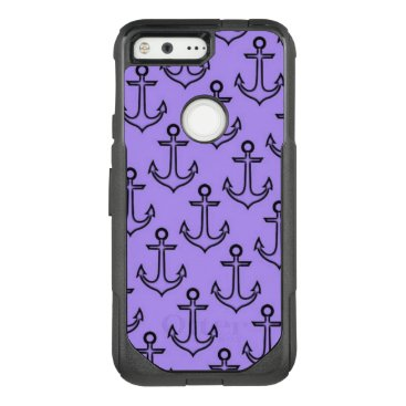 Beach Themed Purple Anchor Google Pixel Otterbox Case