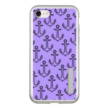 Beach Themed Purple Anchor Incipio DualPro Shine iPhone 8/7 Case