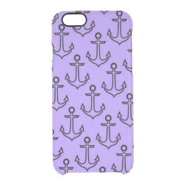 Beach Themed Purple Anchor iPhone 6/6s Clearly™ Case
