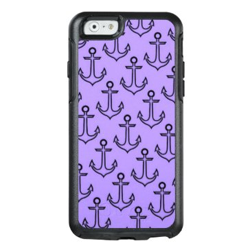 Beach Themed Purple Anchor iPhone 6/6s Otterbox Case