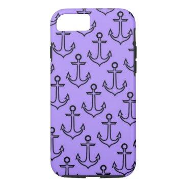 Beach Themed Purple Anchor iPhone 8/7 Case