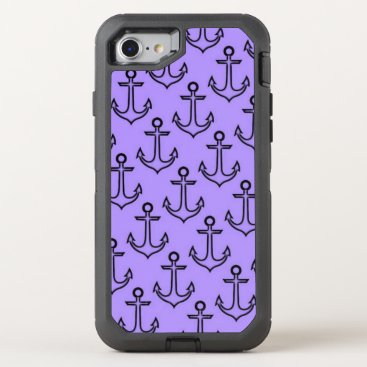 Beach Themed Purple Anchor iPhone 8/7 Otterbox Case