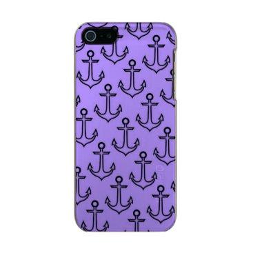 Beach Themed Purple Anchor iPhone SE/5/5s Incipio Case