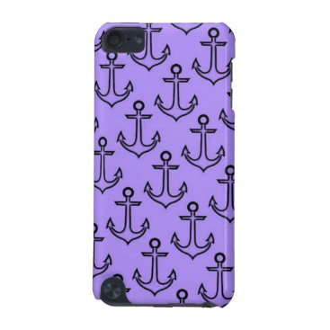 Beach Themed Purple Anchor iPod Touch 5/6 Case