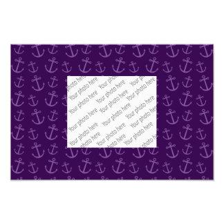 Purple anchor pattern art photo