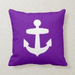Purple Anchor Pillow