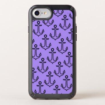 Beach Themed Purple Anchor Speck Presidio iPhone 8/7/6s/6 Case