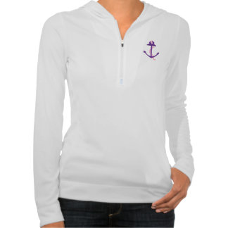 Purple Anchor Hooded Pullover