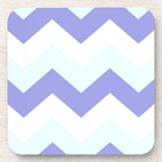 Purple and Aqua Chevron Coasters