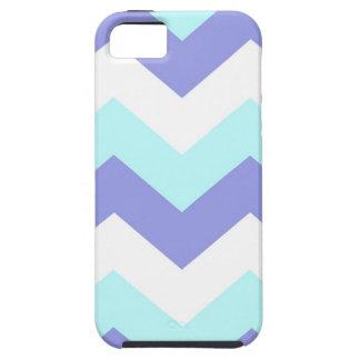 Purple and Aqua Chevron iPhone 5 Cases