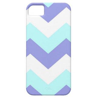 Purple and Aqua Chevron iPhone 5 Covers