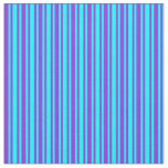 [ Thumbnail: Purple and Aqua Colored Lined/Striped Pattern Fabric ]