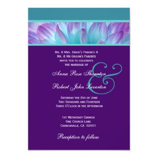PURPLE and AQUA DAHLIA Wedding Collection 001 Personalized Invites