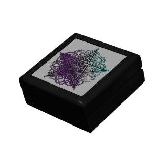 Purple and aqua intricate pentacle gift box