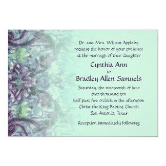 Purple and Aqua Mint Tapestry Invitation