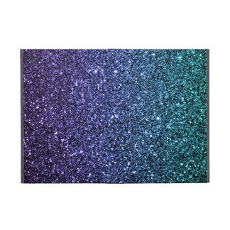 Purple and Aqua Ombre Faux Glitter Cover For iPad Mini