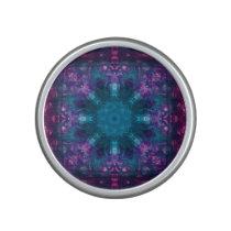 Purple and Aqua Patterns Speaker