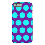 Purple and Aqua Polka Dots Barely There iPhone 6 Case