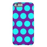 Purple and Aqua Polka Dots iPhone 6 Case