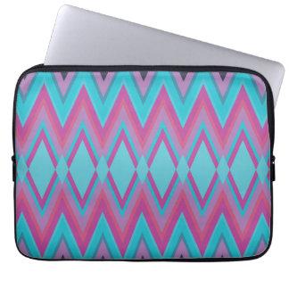 Purple and Aqua Tribal Laptop Sleeve