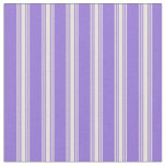 [ Thumbnail: Purple and Beige Stripes Pattern Fabric ]