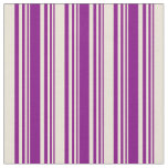[ Thumbnail: Purple and Bisque Pattern Fabric ]