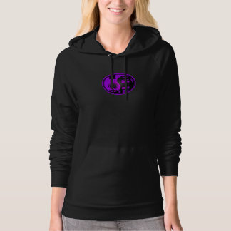 Purple and Black Acoustic Electric Guitars Yin Yan Hoodie