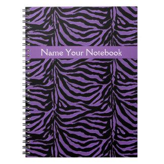 Purple and Black Animal Print Notebook