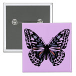 Purple and Black Butterfly Buttons