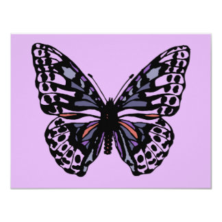 Purple and Black Butterfly Card