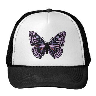Purple and Black Butterfly Trucker Hat