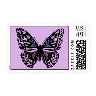 Purple and Black Butterfly Postage