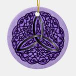 Purple and Black Celtic Art Trinity Knot