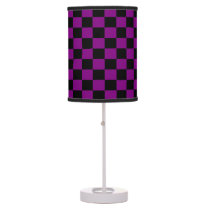 Purple and Black Checkered Shaded Lamp