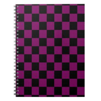 Purple and Black Checks Notebook