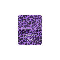 Purple and Black Cheetah Business Card Holder